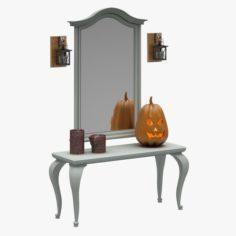 Dresser Set 07 3D Model