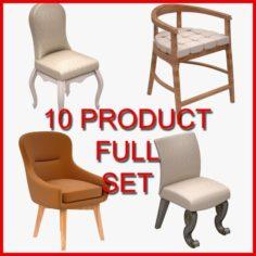 Chair Set 05 10 Product 3D Model