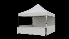 Marketing tent 4x4m 3D Model