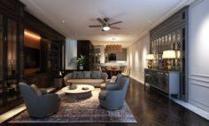 HMN Livingroom 3D Model