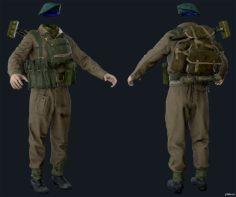 Airborne Division (Male) British Commando 3D Model