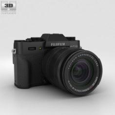 Fujifilm X-T10 Black 3D Model