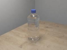 PET water bottlefullempty 3D Model