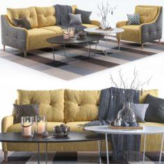 Pohjanmaan Jenson armchair and sofa 1 3D Model