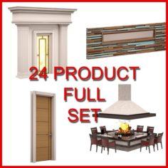 Architectural Decor Set 02 24 Product 3D Model