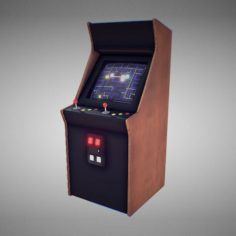 Classic Arcade Game Machine 3D Model