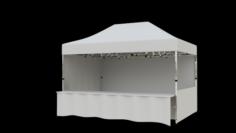 Marketing tent 45×3 m 3D Model