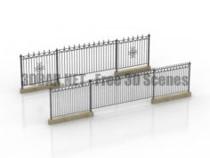 Forged fences 3D Collection