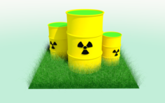Radiation Barrel Free 3D Model