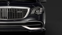 Mercedes Maybach S 650 Pullman Guard VV222 2019 3D Model