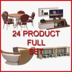 Furniture Set 03 24 Product 3D Model