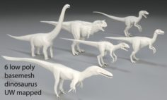 Dinosaur-6 peaces-low poly-part 2 3D Model