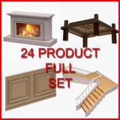 Architectural Decor Set 01 24 Product 3D Model