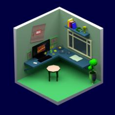 Marvel fan room 3D Model