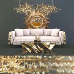 Boca do Lobo – Imperfectio sofa, Fredrikson Stallard – Atlantic                                      3D Model