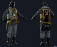 Airborne Division (Male) Golden Sun 3D Model