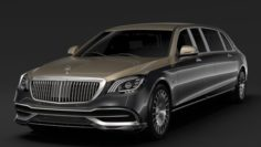 Mercedes Maybach S 650 Pullman VV222 2019 3D Model