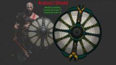 Shield of Kratos – Guardian Shield – God of War 2018 3D Model