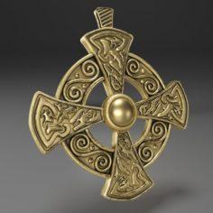 Gold Cross Insignia Decoration 3D Model