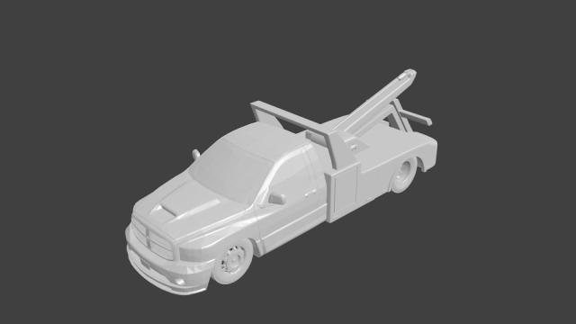 Dodge ram srt towtruck 3D Model