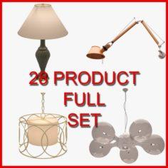Interior Lamp Set 01 28 Product 3D Model