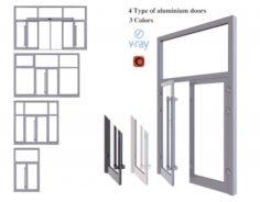 Aluminium door 3D Model