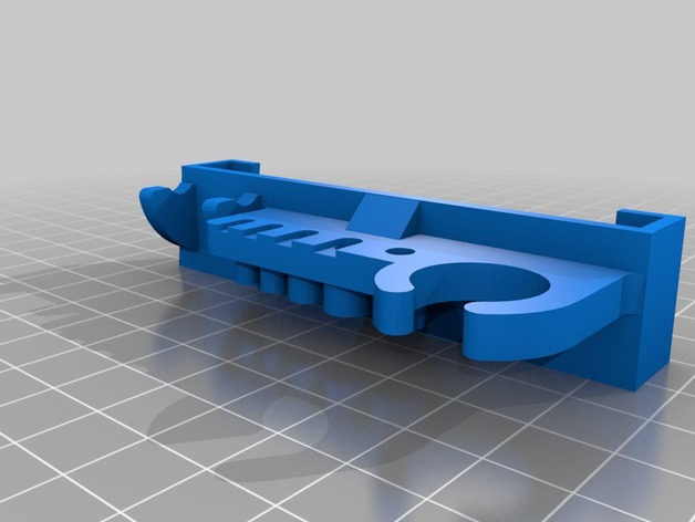 a8 slide on tool holder with wrench 3D Print Model