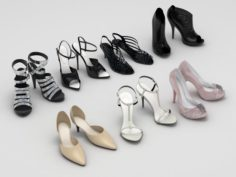 Lady Shoes Collection 3D Model