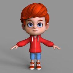 Cartoon Character Arnold 3D Model