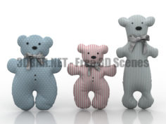 Toys bears 3D Collection