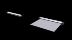 Classroom Projector Screen Set 3D Model