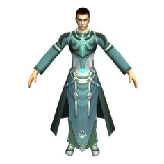 Game 3D Character – Male Mage 02 3D Model