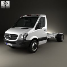 Mercedes-Benz Sprinter Single Cab Chassis LWB 2013 3D Model