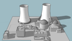 Nuclear power plant 3D Model