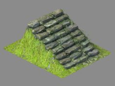 New Village – stone steps 02 3D Model