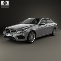 Mercedes-Benz E-Class W212 AMG Sports Package 2013 3D Model