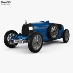 Bugatti Type 35 with HQ interior 1924 3D Model