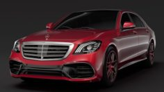 Mercedes AMG S 63 4MATIC V222 2018 Lang 3D Model