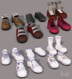 Shoes Carton 3D Model