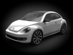 VW Beetle 2012 3D Model