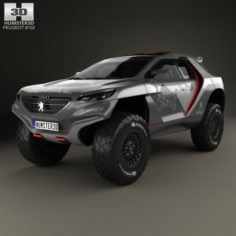 Peugeot 2008 DKR with HQ interior 2014 3D Model