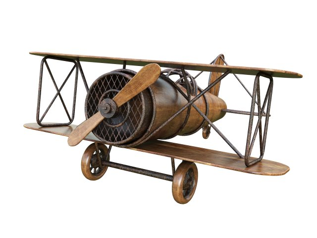 Wooden Toy Airplane 3D Model