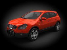 Nissan Qashqai 2008 3D Model