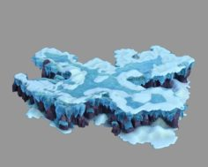 Deep in the snow mountains – rocks 0363 3D Model