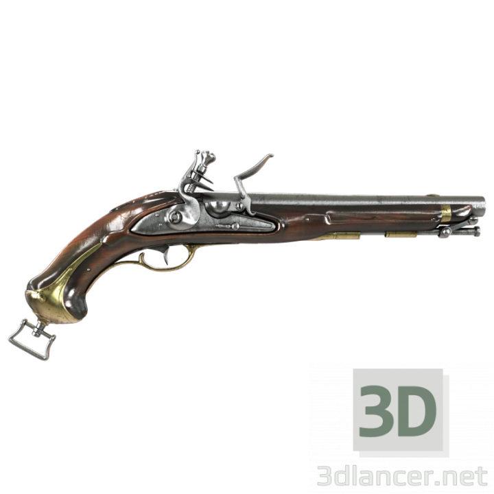 3D-Model  Old gun (pistol)