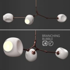 Branching bubble 3 lamps 2 by Lindsey Adelman Milk Copper 3D Model