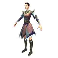Game 3D Character – Female Taoist 02 3D Model