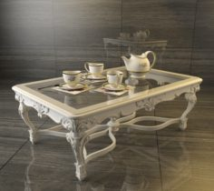 Classic carved coffee table 3D Model