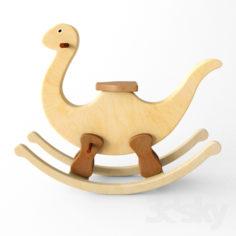 wooden rocking Dino                                      Free 3D Model