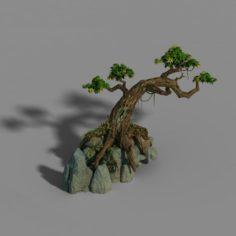 Small bamboo peak – tree 01 3D Model